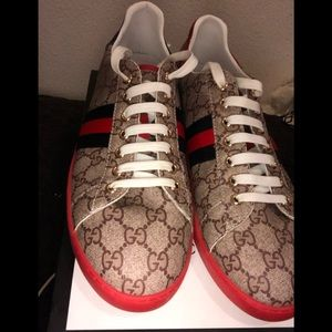 Gucci ace sneakers brown